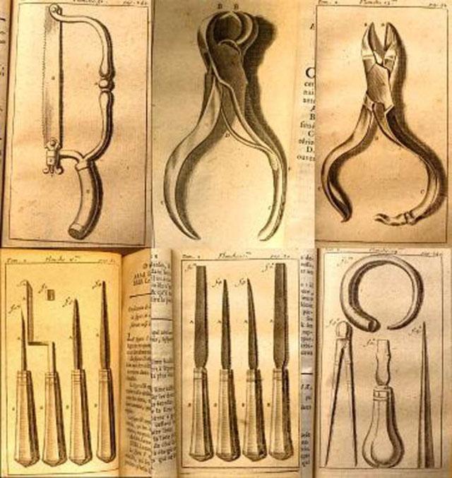 Стоматологічні інструменті з книги П'єра Фошара