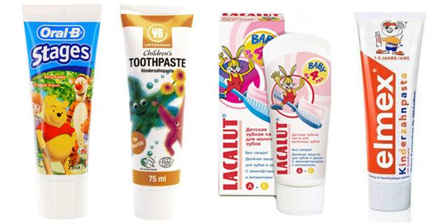 Різноманіття дитячих зубних паст