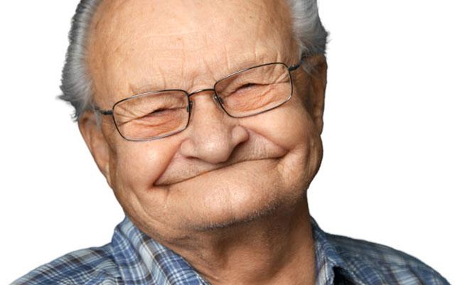 А цього славного дідуся - ні