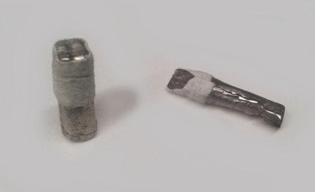 Обгорнути лейкопластиром мелотові штапми