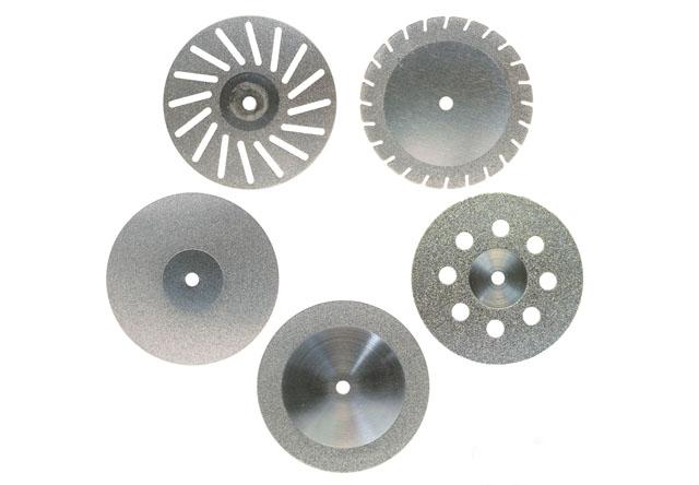 та алмазні диски («сніжинки») різного діаметру та товщини